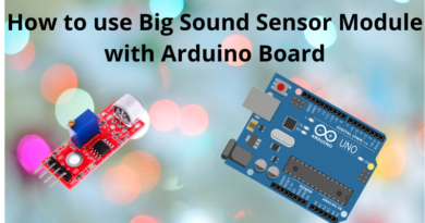 How to use Big Sound Sensor Module with Arduino Board